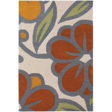 Inhabit Designer Ivory/Orange Rug