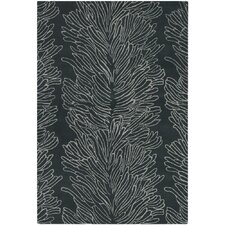 <strong>Chandra Rugs</strong> Parson Gray Designer Black Rug