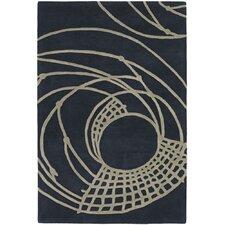 Parson Gray Designer Black Rug