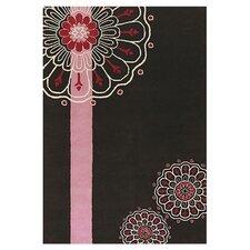Dharma Black/Pink Area Rug