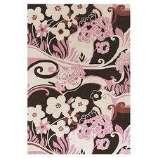 Dharma White/Pink Area Rug