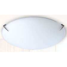 Lugarno One Light Flush Mount Ceiling Light with Frost Glass