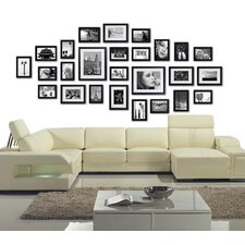26 Piece Wall Photo Frames Set in Black