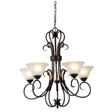 Gaston 5 Light Up Pendant in Bronze