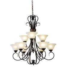 Gaston 9 Light Up Pendant in Bronze