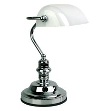 Bankers Touch Lamp in Chrome / Gloss Opal