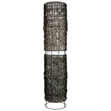 Mauii Wicker and Cotton Floor Lamp
