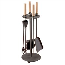 <strong>Muskoka</strong> Onyx 4 Piece Iron Fireplace Tool Set