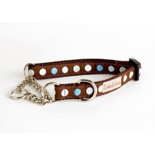 Blueberry Truffle Blue/Brown Martingale Dog Collar