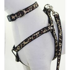 Leopard Black Dog Harness