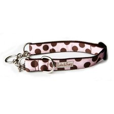 <strong>Lola and Foxy</strong> Strawberry Shake Dots Martingale Dog Collar