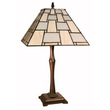Table Lamp in Antique Brass with Tiffany Shade