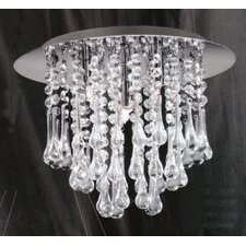Ceiling Lamp in Chrome with Crystal