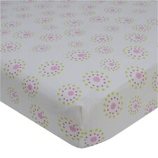 Pink Butterfly Fitted Crib Sheet