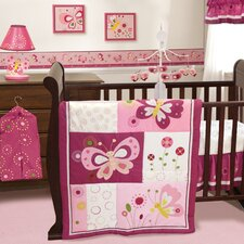 Pink Butterfly Crib Bedding Collection
