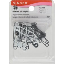 <strong>Singer</strong> Professional Style Safety Pins (25 Count)