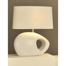 River Rock White Table Lamp