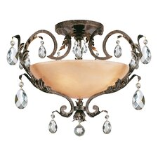 Barcelona 4 Light Semi Flush Mount