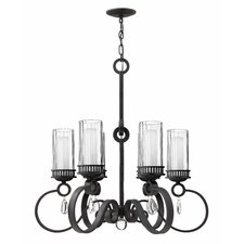 Cabrello  Chandelier in Black Iron
