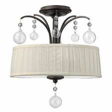 Prosecco 3 Light Foyer Semi Flush Mount