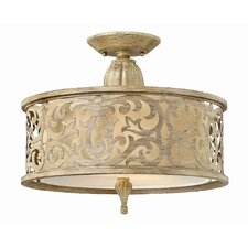 Carabel 2 Light Semi Flush Mount