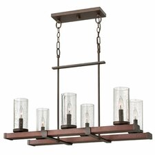 Jasper 6 Light Rectangular Chandelier