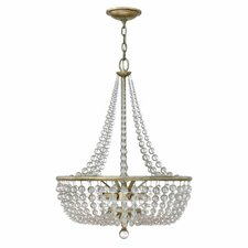 <strong>Fredrick Ramond</strong> Caspia 4 Light Foyer Inverted Pendant