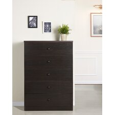 <strong>Hokku Designs</strong> York Modern 5 Drawer Chest