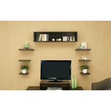 Somer 7 Piece Hanging Shelves and Cabinet Set