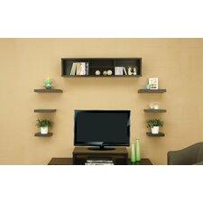 Somer 7 Piece Hanging Shelves and Cabinet Set