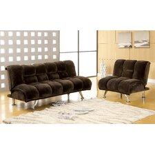 Jopelli Flannel Sleeper Sofa and Chair Set