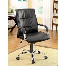 Blake High-Back Leatherette Office Chair with Arms