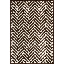 Mat The Basics Tracks Brown Area Rug
