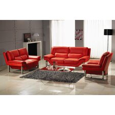 <strong>Hokku Designs</strong> LA 3 Piece Leather Sofa Set