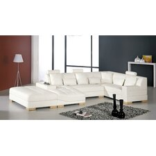 <strong>Hokku Designs</strong> llo Chris Danville Leather Sectional