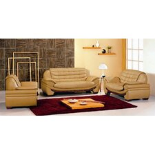 <strong>Hokku Designs</strong> Westminster 3 Piece Leather Sofa Set