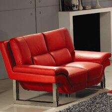 LA Leather Loveseat