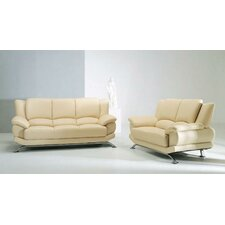 <strong>Hokku Designs</strong> Jaeger 3 Piece Leather Sofa Set