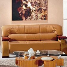 <strong>Hokku Designs</strong> Chrysocolla Leather Sofa