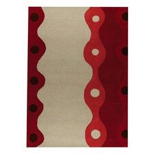 <strong>Hokku Designs</strong> Monaco Red Rug
