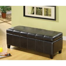 <strong>Hokku Designs</strong> Luton Bi Cast Leather and Wood Bedroom Storage Ottoman