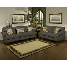 Linea Upholstered Sofa and Loveseat Set