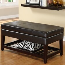 Ramon Leatherette Storage Ottoman Bench