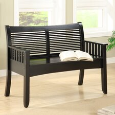 Solimar Wood Entryway Storage Bench