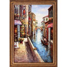 Morning in Venice Hand Painted Oil Canvas Art with Frame