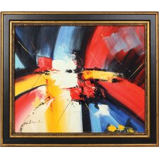 Red Blue Yellow Framed Original Painting