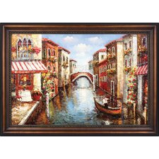 Venice Channel Hand Painted Oil Canvas Art with Frame