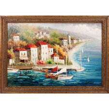 A New Journey Hand Painted Oil Canvas Art with Frame