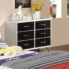 Modesto 6 Drawer Metal Dresser