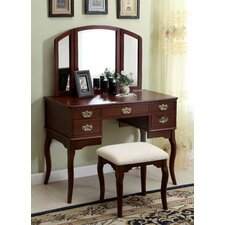 <strong>Hokku Designs</strong> Madera Vanity Set with Mirror